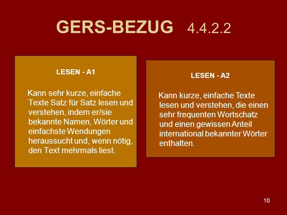 GERS-BEZUG 4.4.2.2