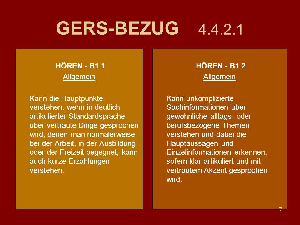 GERS-BEZUG 4.4.2.1