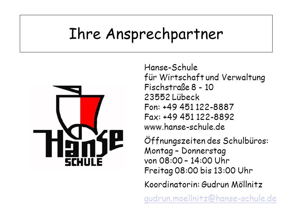 Ihre Ansprechpartner Hanse-Schule für Wirtschaft und Verwaltung