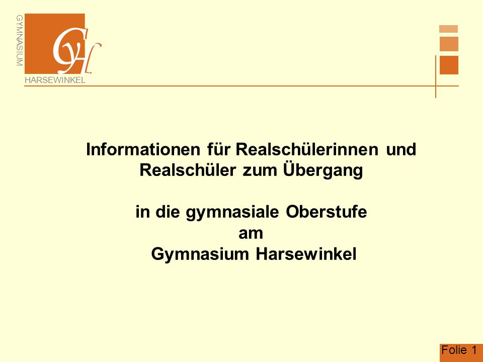 Informationen für Realschülerinnen und Realschüler zum Übergang in die gymnasiale Oberstufe am Gymnasium Harsewinkel