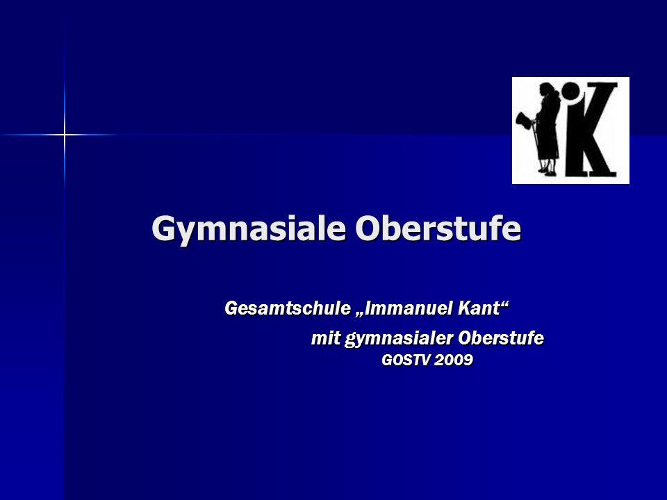 """Gesamtschule """"Immanuel Kant mit gymnasialer Oberstufe GOSTV 2009"""
