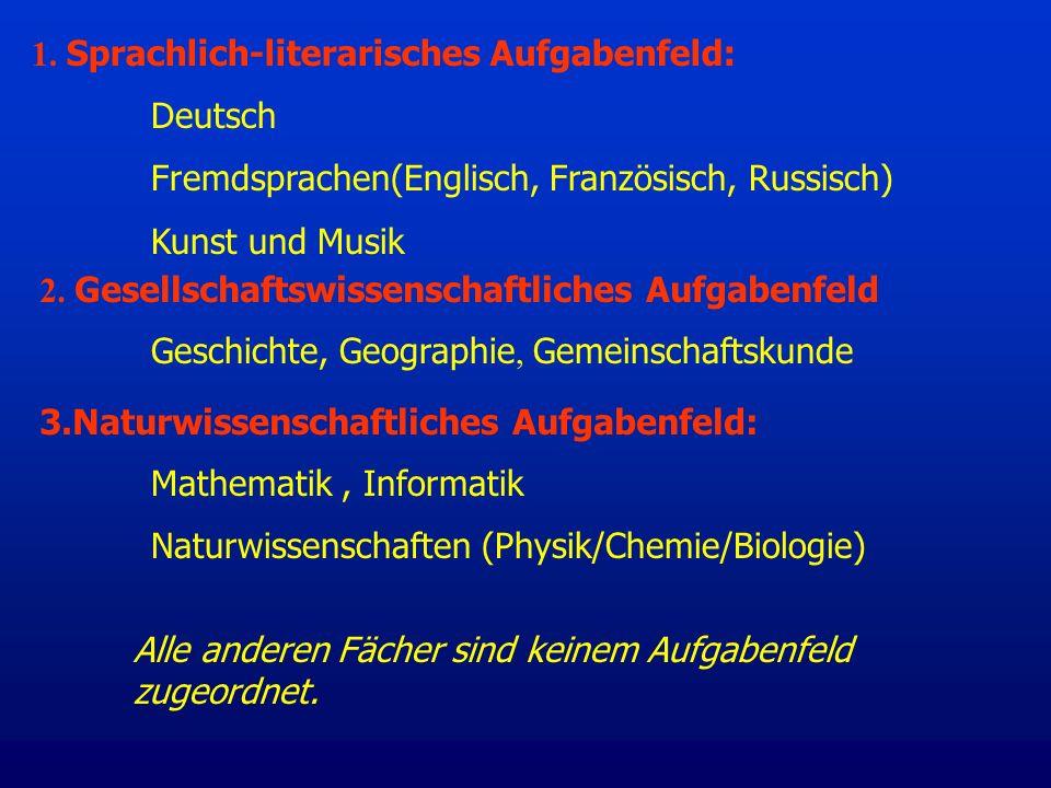 1. Sprachlich-literarisches Aufgabenfeld: