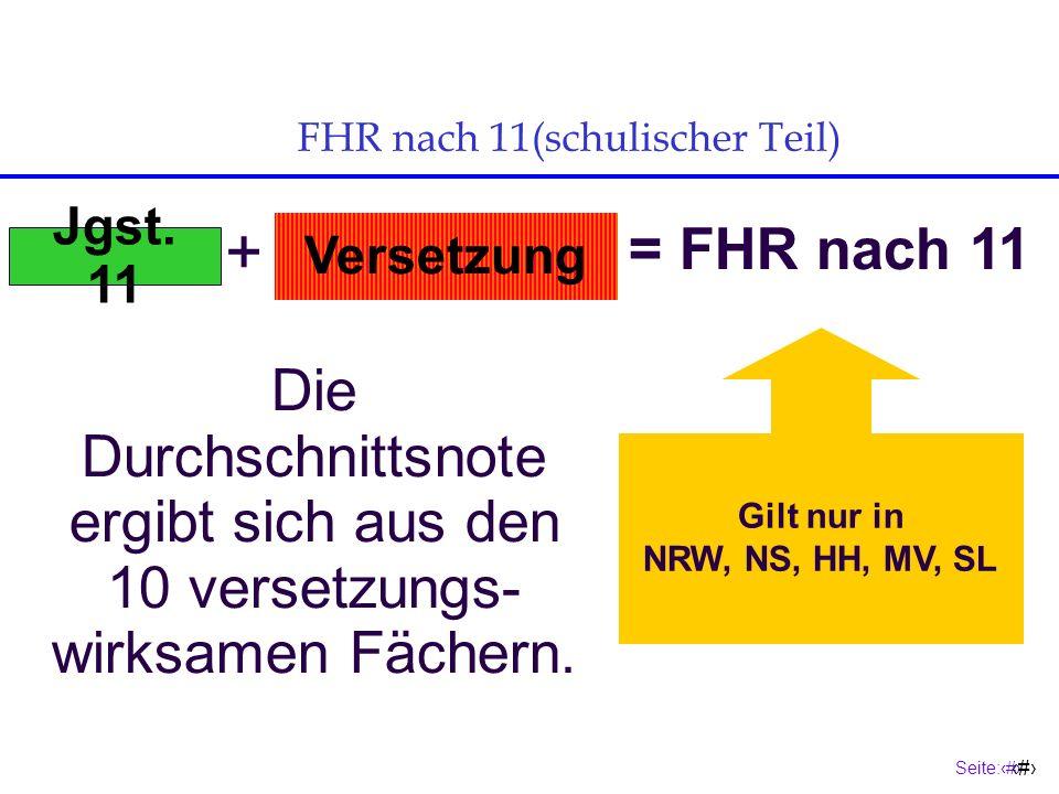 FHR nach 11(schulischer Teil)