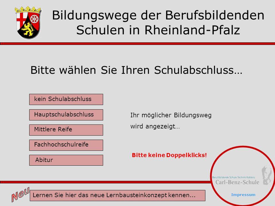 Bildungswege der Berufsbildenden Schulen in Rheinland-Pfalz