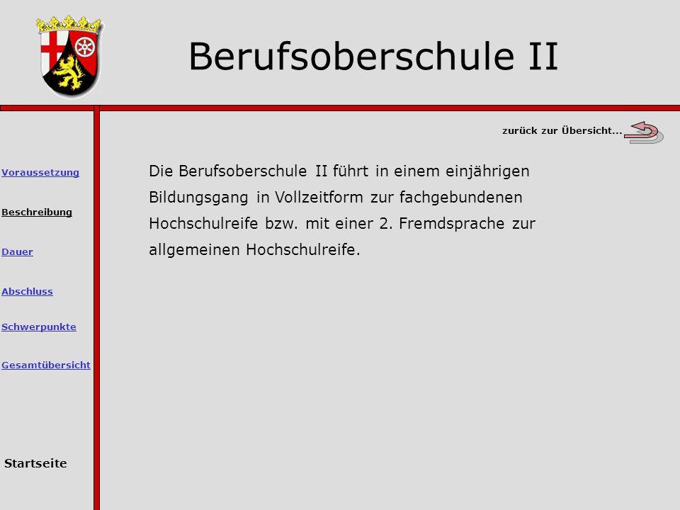 Berufsoberschule II zurück zur Übersicht...