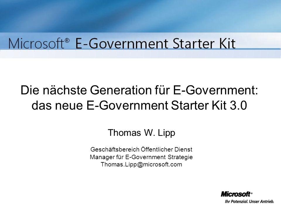 Die nächste Generation für E-Government: das neue E-Government Starter Kit 3.0
