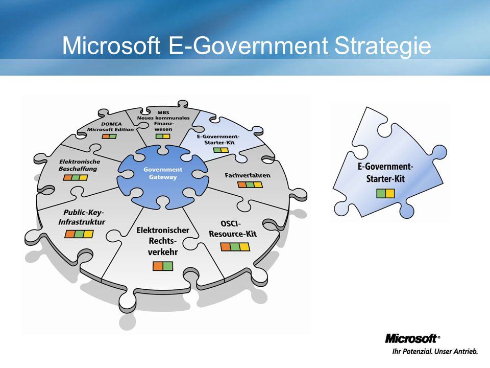 Microsoft E-Government Strategie