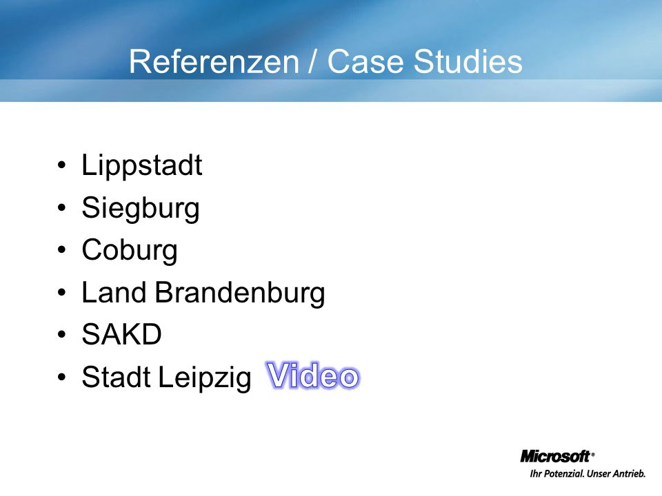 Referenzen / Case Studies