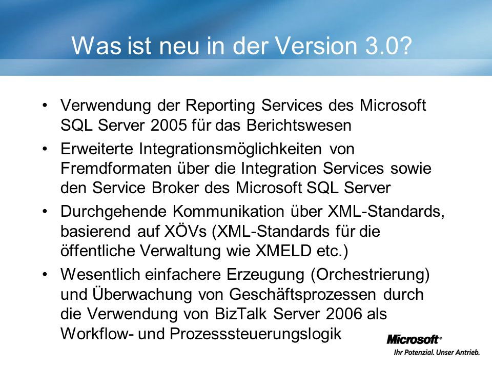 Was ist neu in der Version 3.0