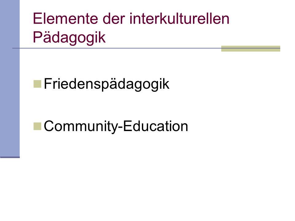 Elemente der interkulturellen Pädagogik