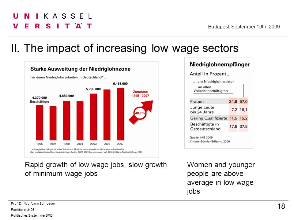 II. The impact of increasing low wage sectors