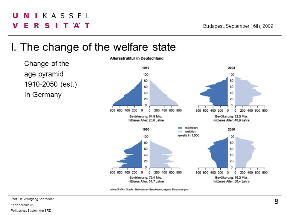 I. The change of the welfare state