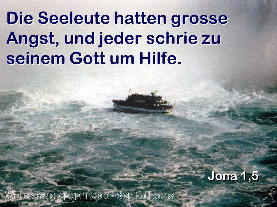 Widerstand gegen Gott - der Fall Jona