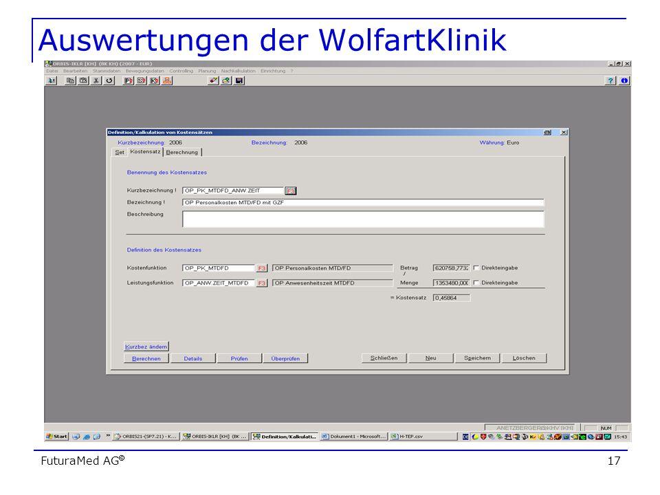 Auswertungen der WolfartKlinik