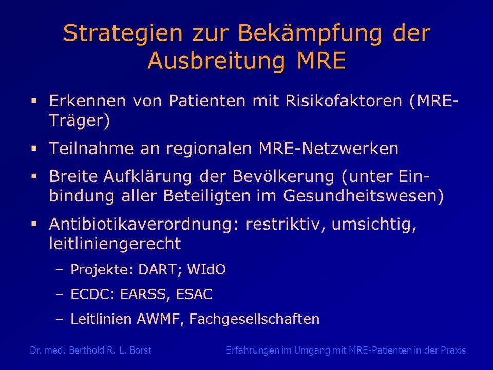 Strategien zur Bekämpfung der Ausbreitung MRE