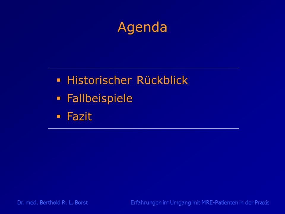 Agenda Historischer Rückblick Fallbeispiele Fazit