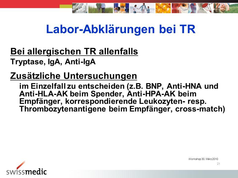 Labor-Abklärungen bei TR