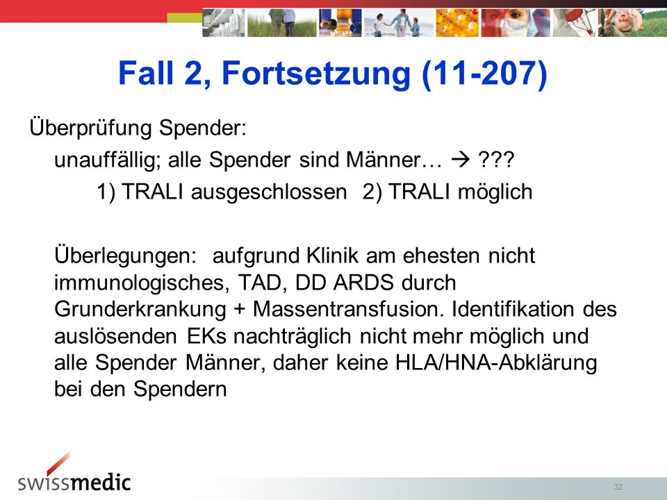 Fall 2, Fortsetzung (11-207) Überprüfung Spender: