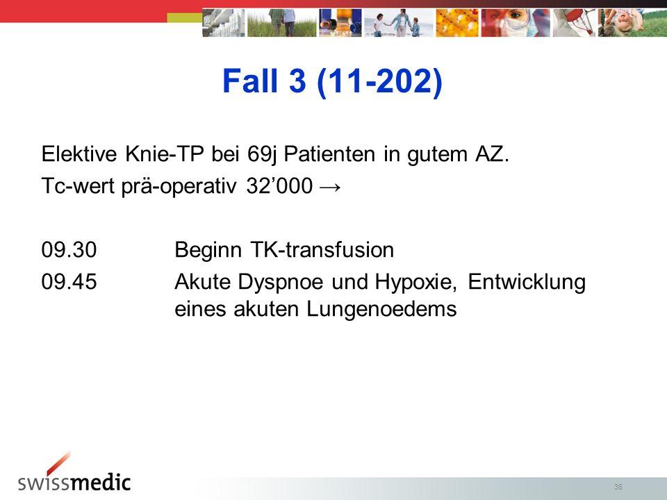 Fall 3 (11-202) Elektive Knie-TP bei 69j Patienten in gutem AZ.