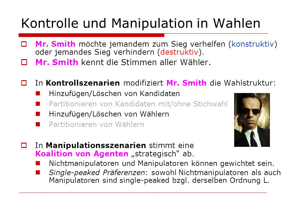 Kontrolle und Manipulation in Wahlen