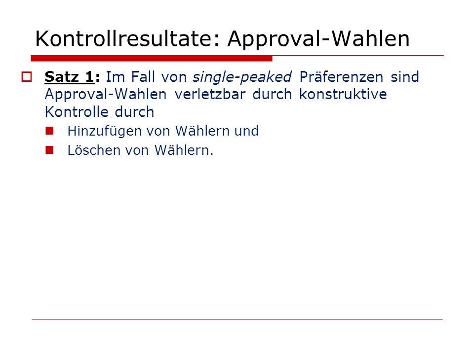 Kontrollresultate: Approval-Wahlen