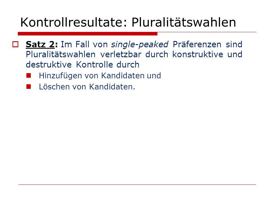 Kontrollresultate: Pluralitätswahlen