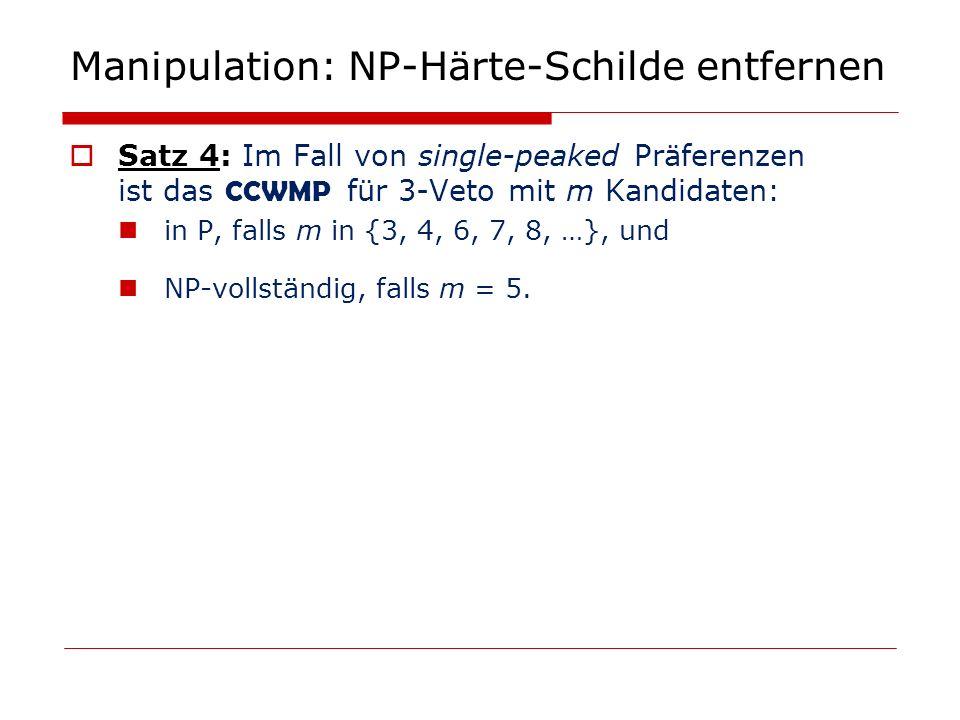 Manipulation: NP-Härte-Schilde entfernen