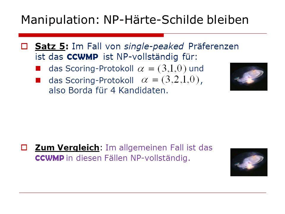Manipulation: NP-Härte-Schilde bleiben