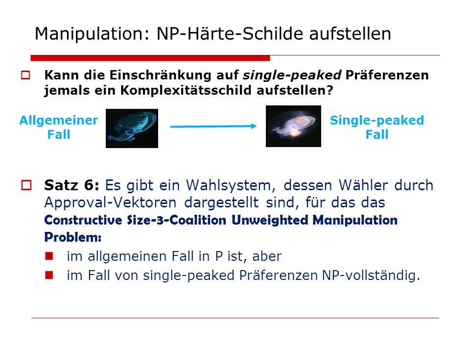 Manipulation: NP-Härte-Schilde aufstellen