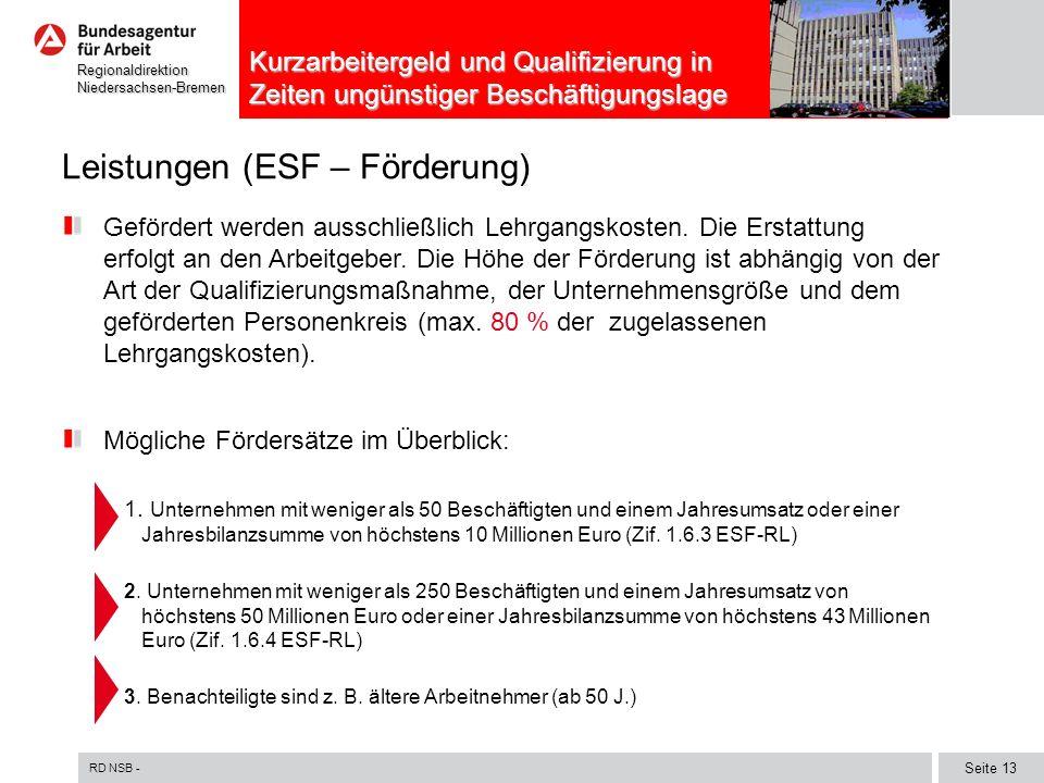Leistungen (ESF – Förderung)