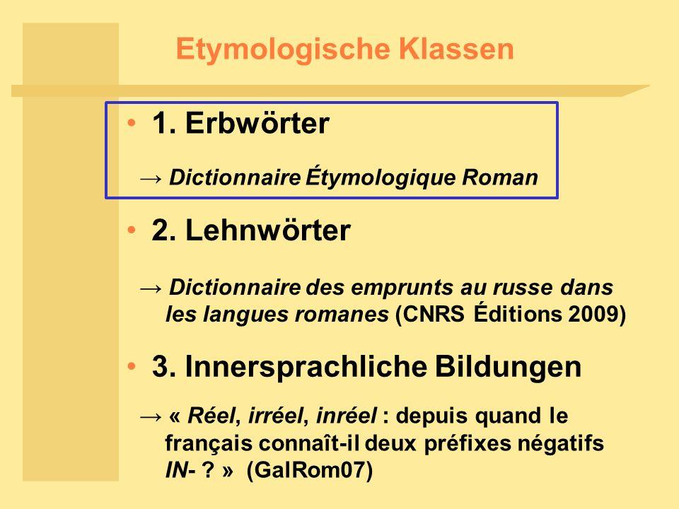 Etymologische Klassen