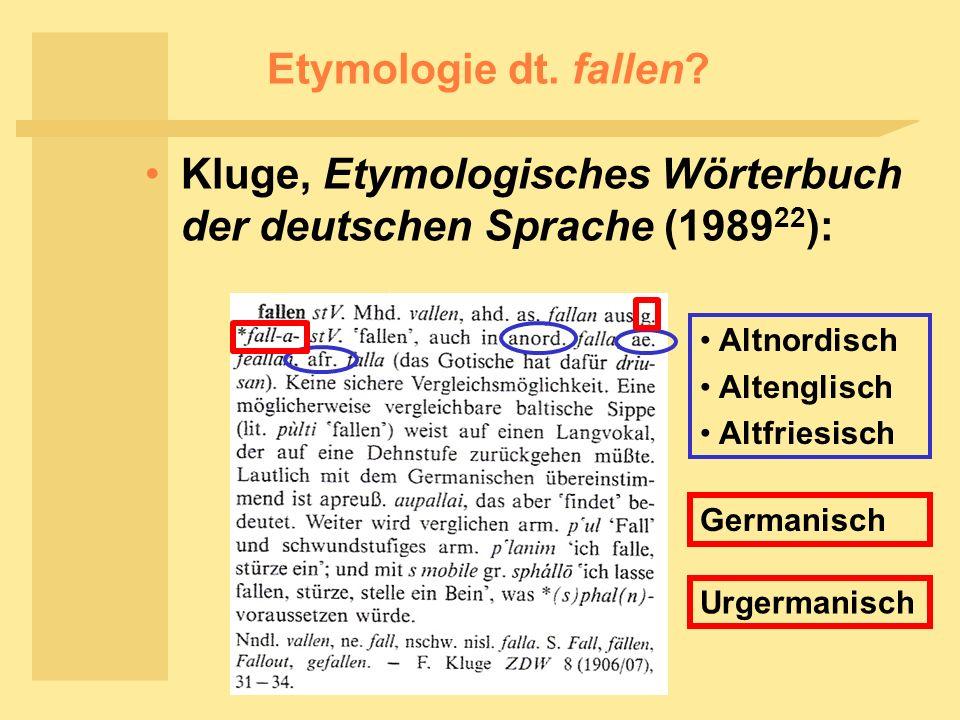 Kluge, Etymologisches Wörterbuch der deutschen Sprache (198922):