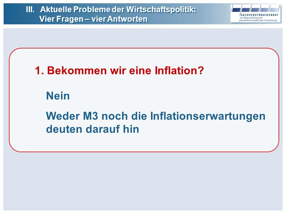 1. Bekommen wir eine Inflation