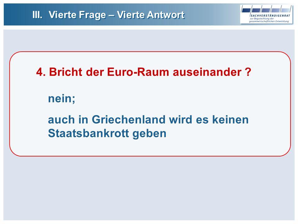 4. Bricht der Euro-Raum auseinander