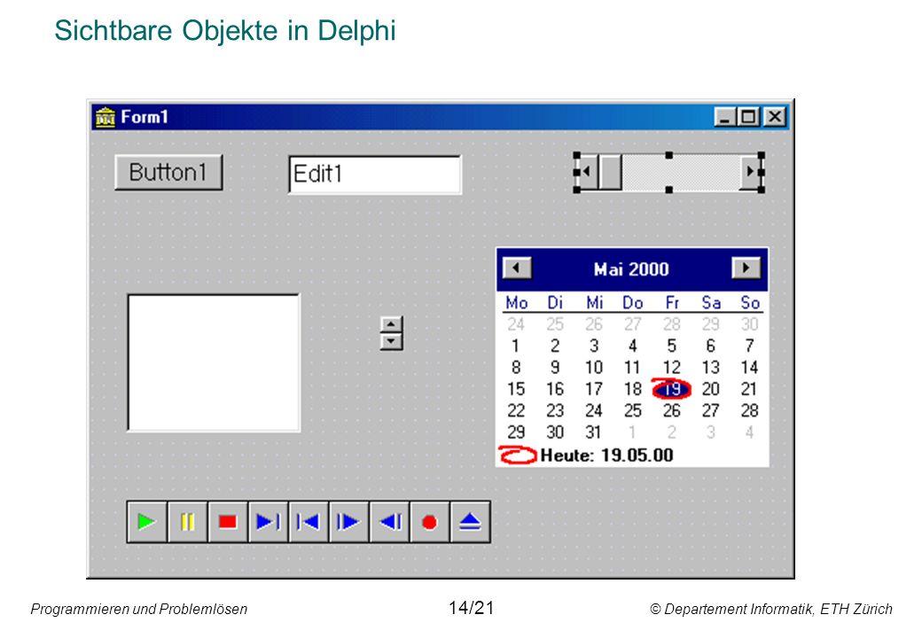 Sichtbare Objekte in Delphi