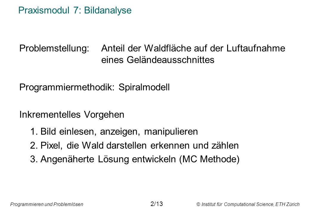 Praxismodul 7: Bildanalyse