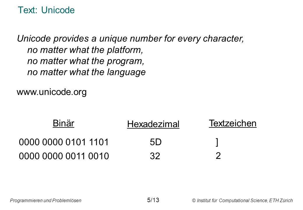 Text: Unicode