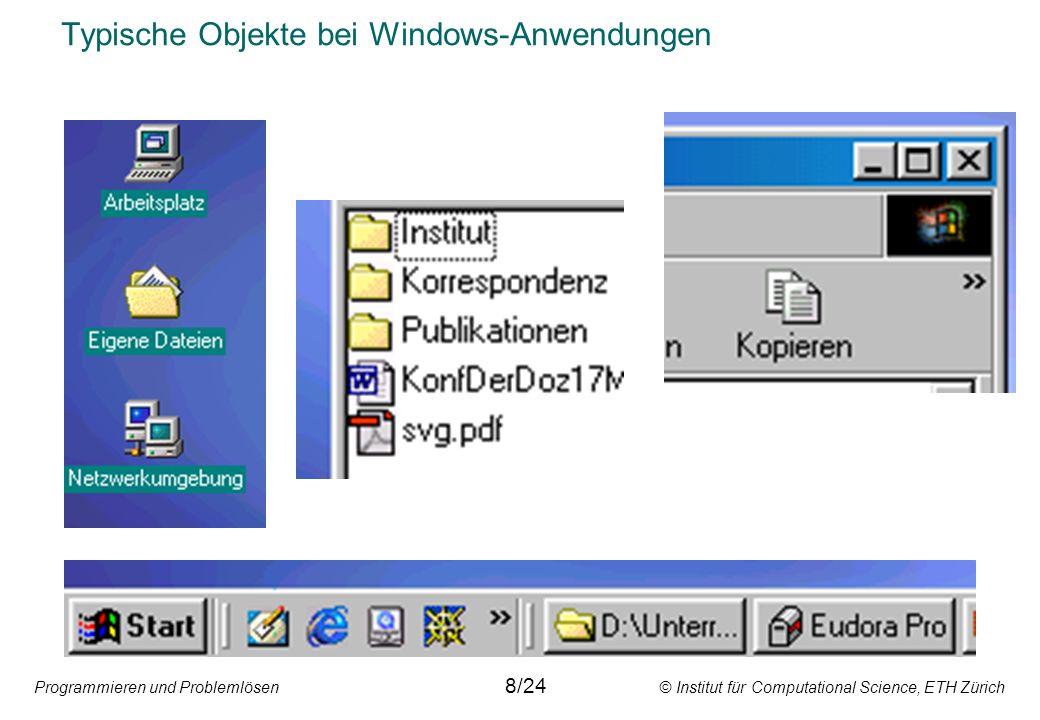 Typische Objekte bei Windows-Anwendungen