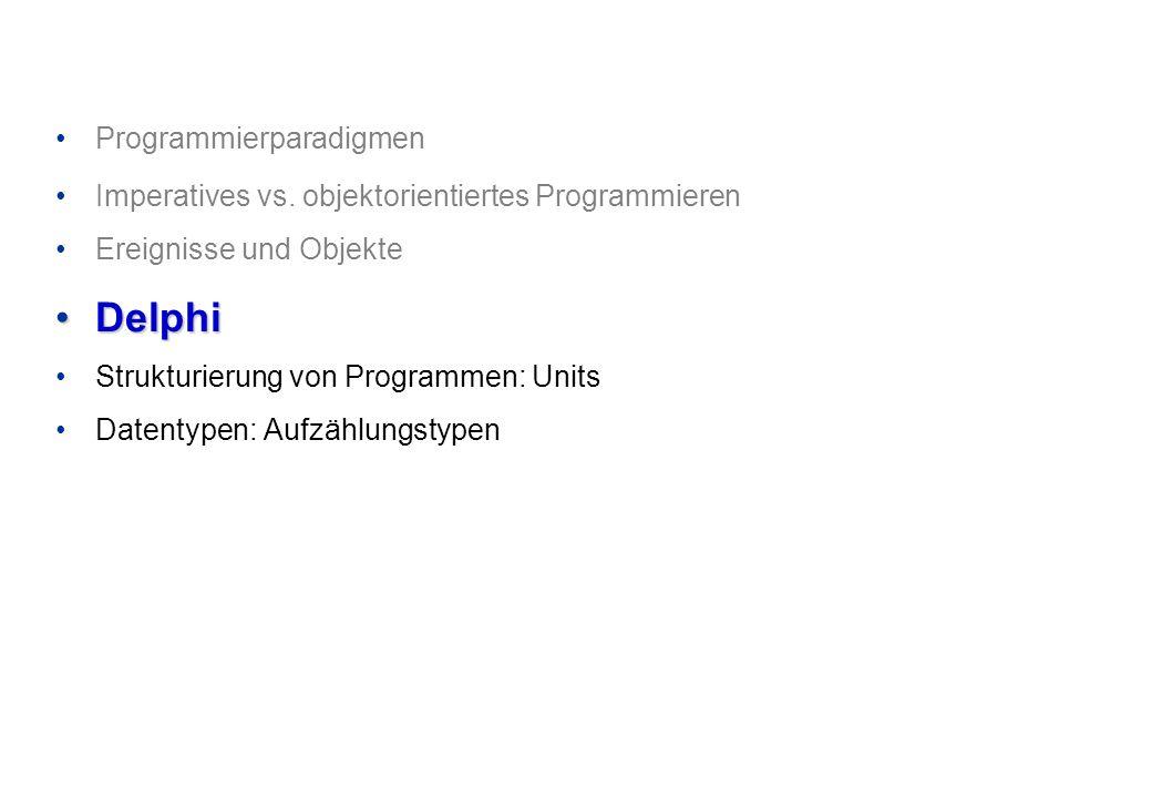 Delphi Programmierparadigmen