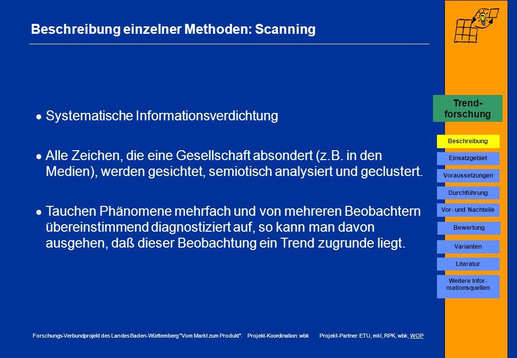 Beschreibung einzelner Methoden: Scanning