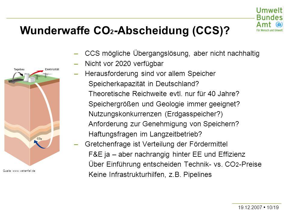 Wunderwaffe CO2-Abscheidung (CCS)