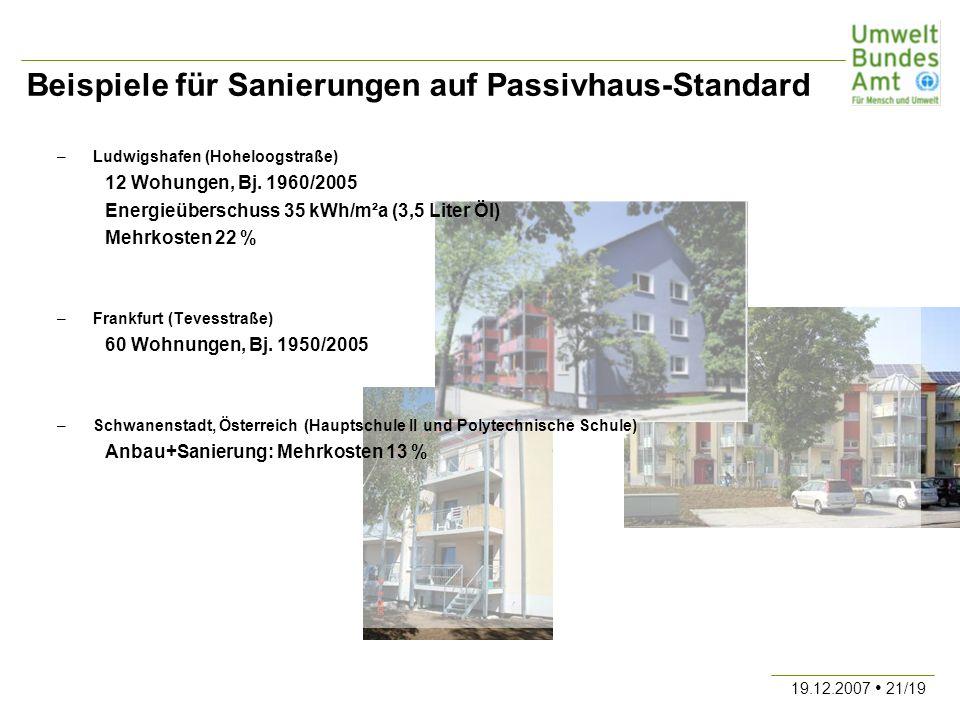 Beispiele für Sanierungen auf Passivhaus-Standard