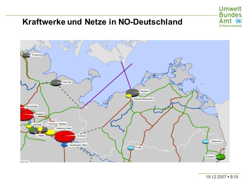 Kraftwerke und Netze in NO-Deutschland