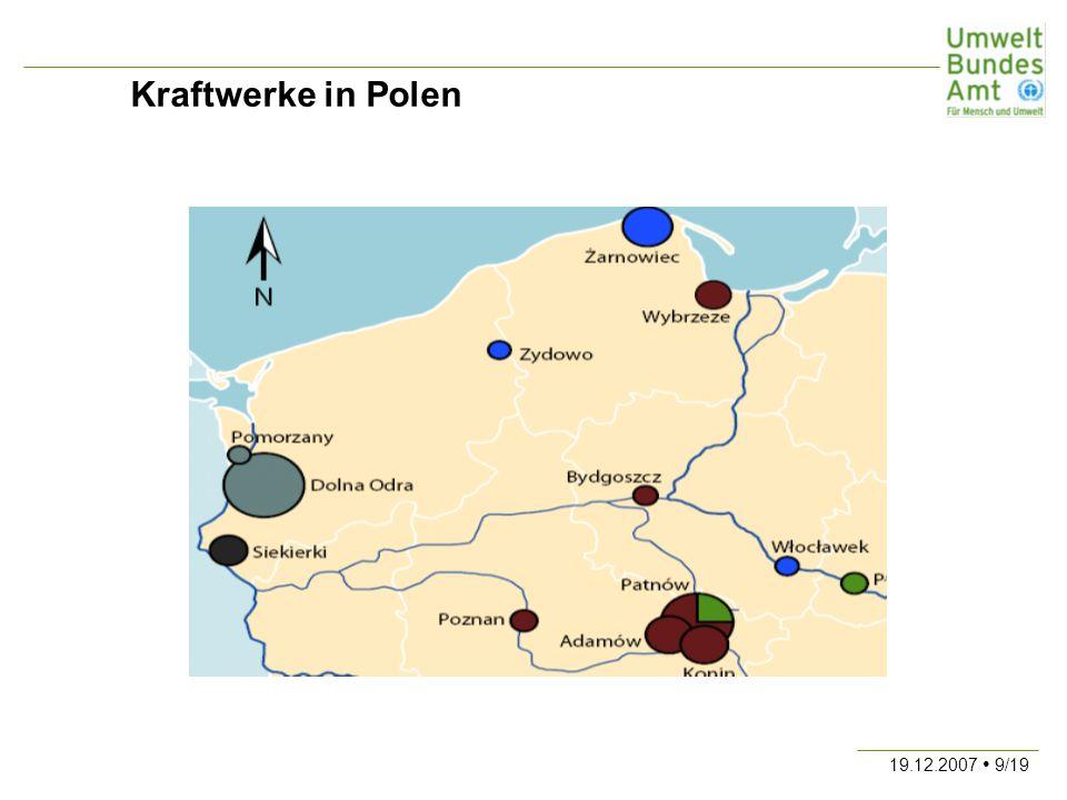 Kraftwerke in Polen