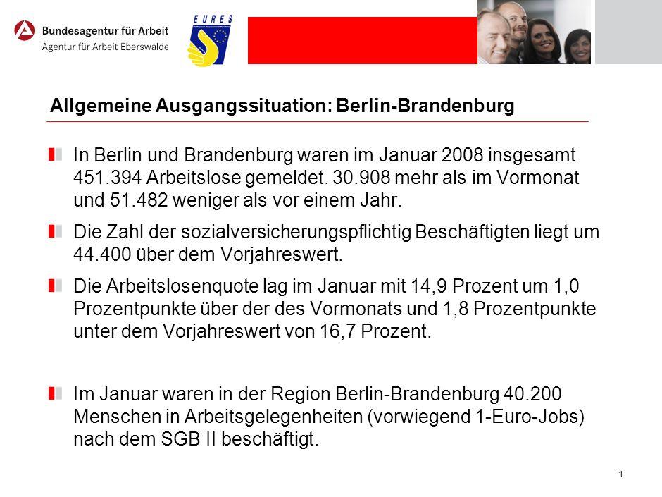 Allgemeine Ausgangssituation: Eberswalde / Frankfurt (O.)