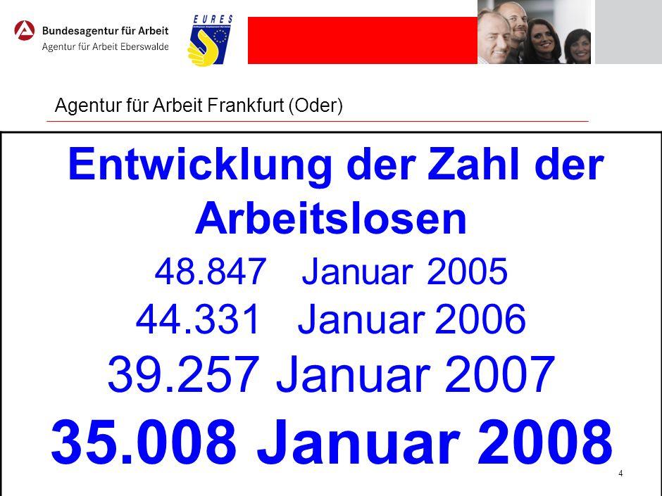 Strukturdaten für den Agenturbezirk Frankfurt (Oder)