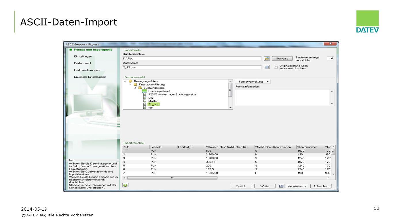 ASCII-Daten-Import Beispiel- Exportdatei 2017-03-31