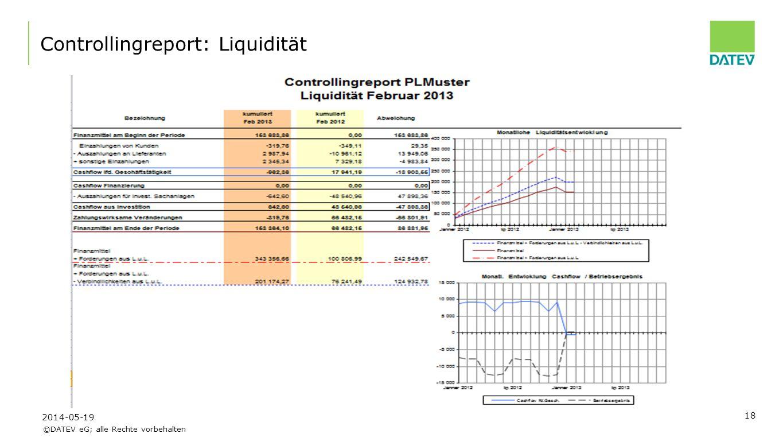 Controllingreport: Liquidität