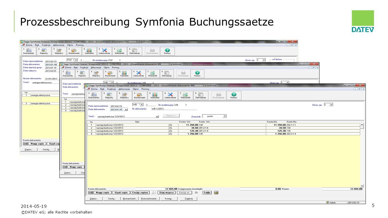 Prozessbeschreibung Symfonia Buchungssaetze