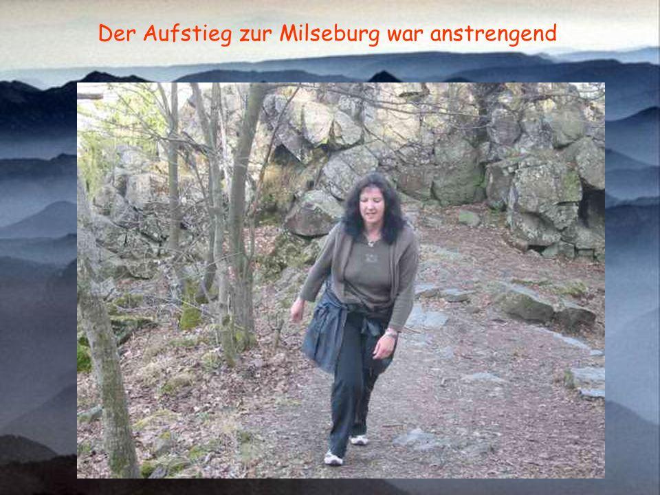 Der Aufstieg zur Milseburg war anstrengend